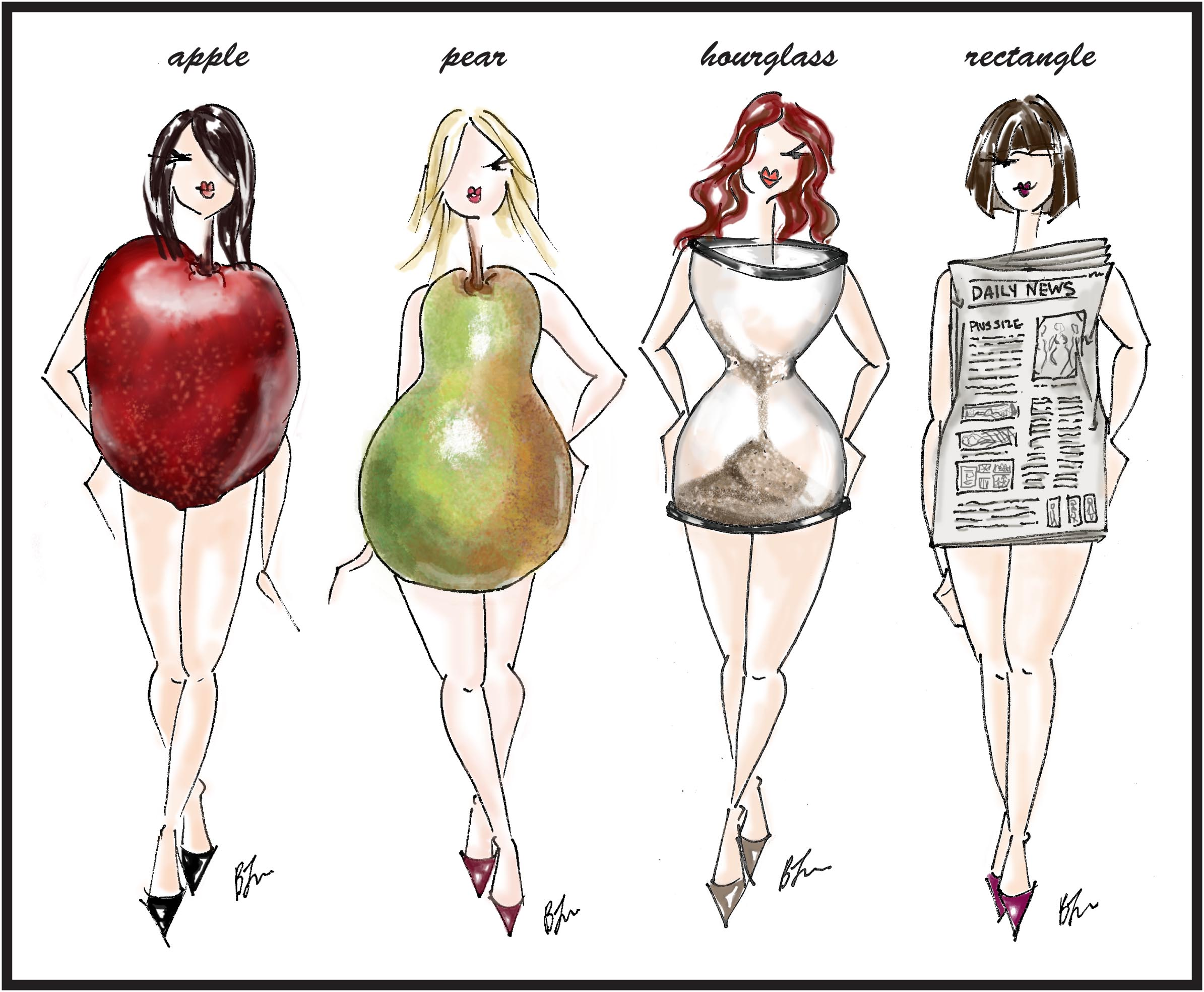 APPLE   PEAR   HOURGLASS   RECTANGLE